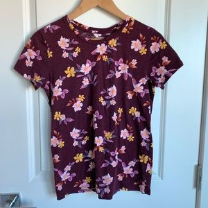 VS PINK Tee Scoop Neck Floral